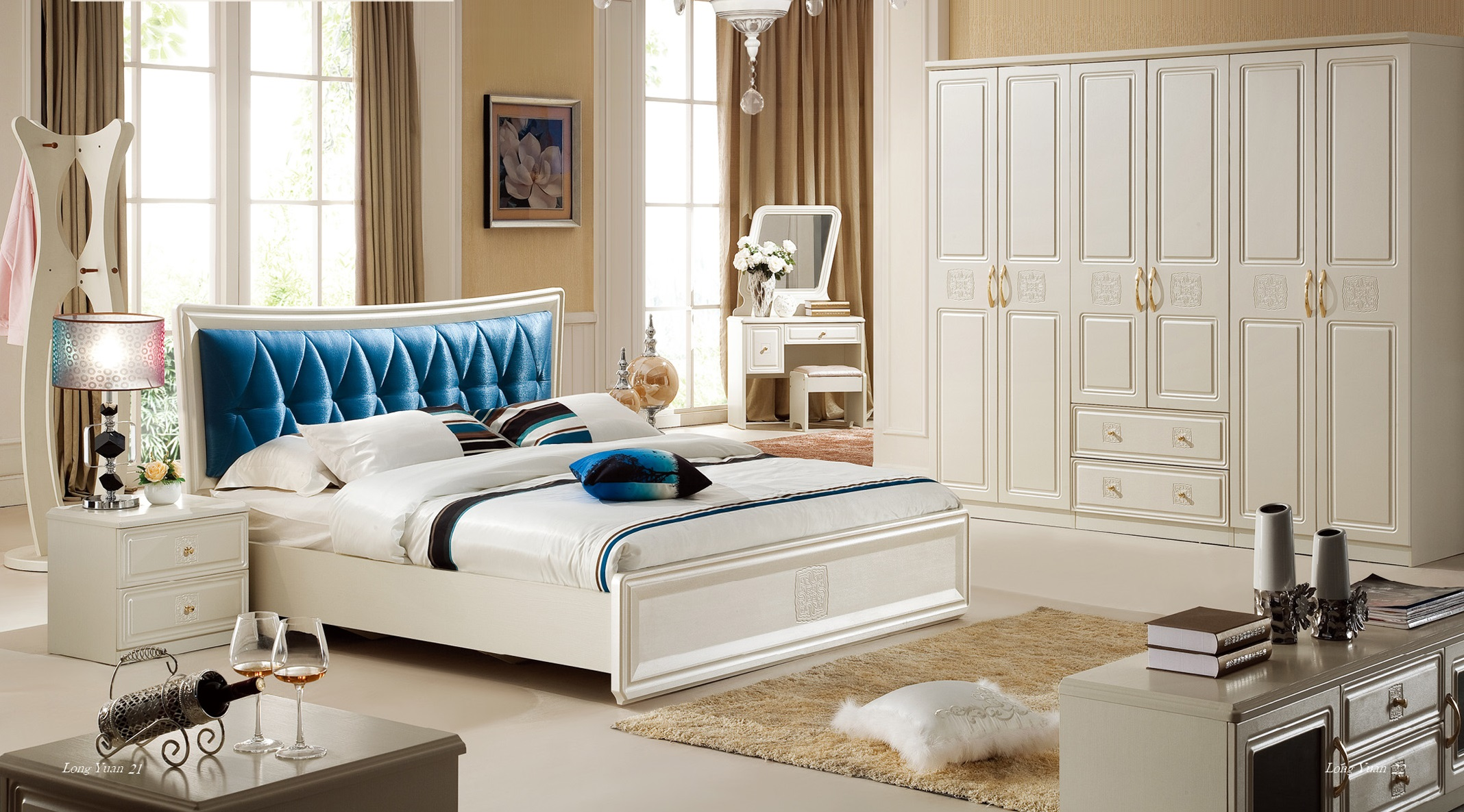 ELEGANCE-3 Home Set Price: 32.150.000 VND Bed-1980 x 2100 x 1150 mm Price: 11.000.000 VND Wardrobe cabinet - 2400 x 600 x 2200 mm Price: 16.000.000 VND Dressing table - 868 x 396 x 1490 mm Price: 3.000.000 VND Makeup chair - 430 x 330 x 390 mm Price: 650.000 VND Tab - 525 x 396 x 480 mm Price: 1.500.000 VND