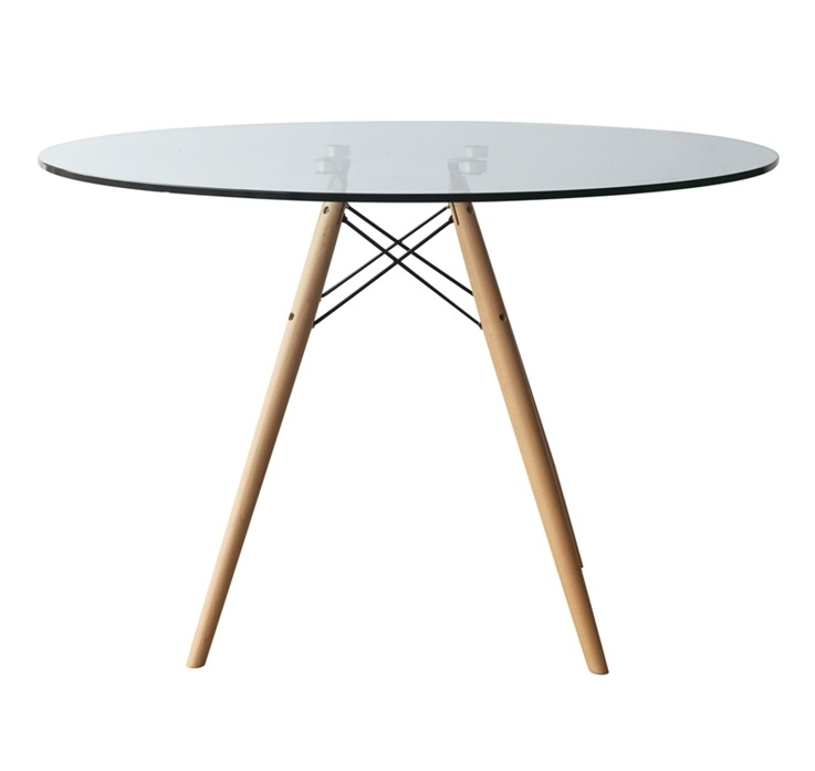 DSW TABLE D700 x 720mm Glass, Wooden base Price: 1.700.000 VND
