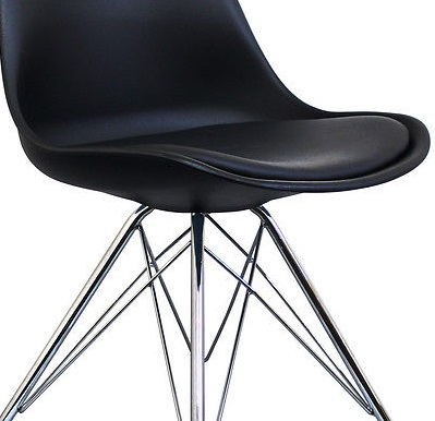 I-DSR Chair (540x465x805) mm Plastic with cushion, metal legs (Black legs and white legs) Price: 840.000 VND