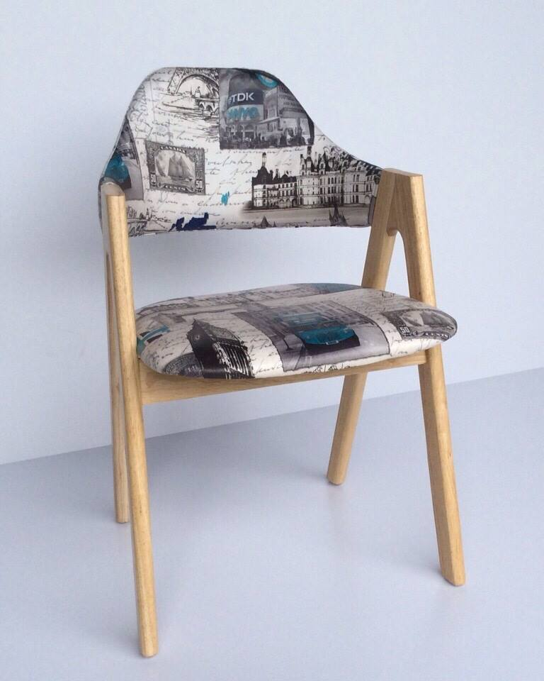 COMPASS chair Designed by Allan Gould in 1949 Price: 1.200.000/pcs Wood, fabric