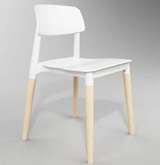 PLC Plastic Chair 460 × 460 × 760 mm Plastic, wood legs . Price: 1.590.000 VND
