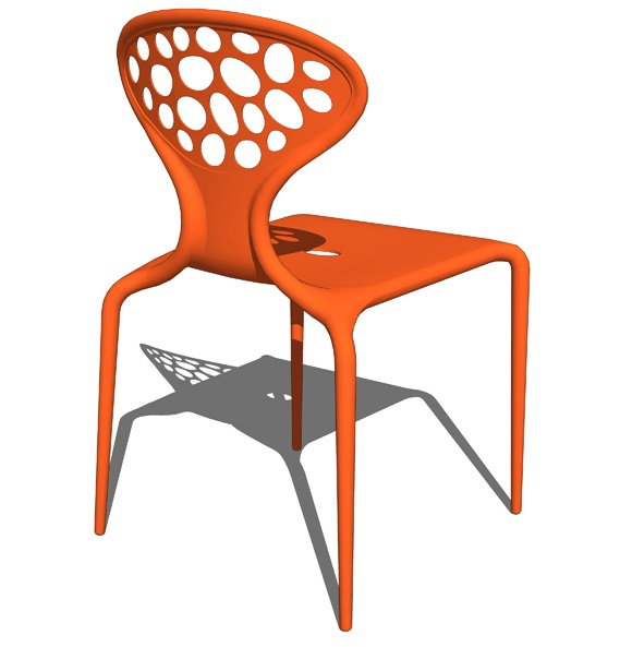 SUPERNATURAL CHAIR Designed by Ross Lovegrove (470 x 460 x 820) mm Plastic Price: 950.000 VND