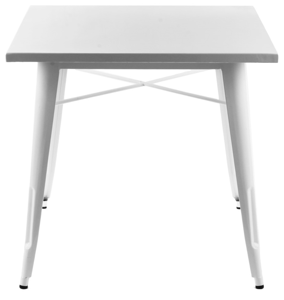TOLIX TABLE Designed by Xavier Pauchard 600 x 600 x 740 mm Painted steel - Black/White colour Price: 2.000.000 VND