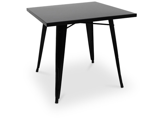 TOLIX TABLE-08 Designed by Xavier Pauchard 800 x 800 x 760 mm Painted steel - Black colour Price: 2.100.000 VND