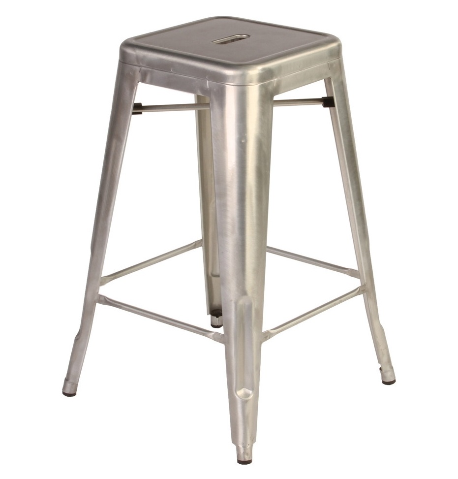 TOLIX H STOOL - Metal colour Designed by Xavier Pauchard 450 x 450 x 760 mm Painted steel, Metal colour Price: 1.200.000 VND