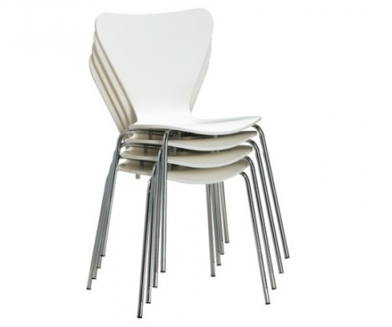 BUTTERFLY DINING CHAIR 460 x 540 x 860 mm Chrome steel leg, Plywood Dark brown, White Price: 900.000 VND