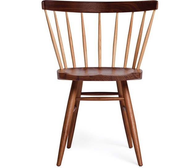 NAKASHIMA CHAIR Originally designed for Knoll in the late 1948 by George Nakashima. Dimensions Height 75.5cm x Width 57cm x Depth 51cm Seat Height 42cm Oak solid wood, walnut colour Price: 2.500.000 VND/pc