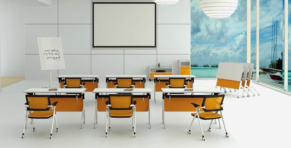 Training Table TT-S03-12 1200 x 600 x 750 mm Painted iron legs. Tables can be fixed, or equipped with casters — meaning a classroom or training center can be reconfigured or appear and disappear in a flash. Price: 3.840.000 VND Bàn học, bàn làm việc gấp, có bánh xe, có thể di chuyển và cố định, chân đúc. Kích thước: 1m2. Giá: 3.840.000 VND/cái