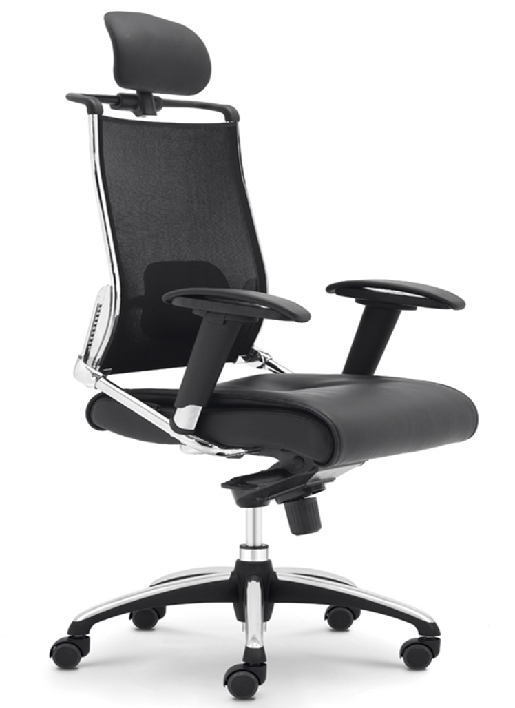 HR308-MU 640x700x1250÷1300 mm Mesh back, PVC seat, relax chair, Alu base Price: 3.790.000 VND/pc