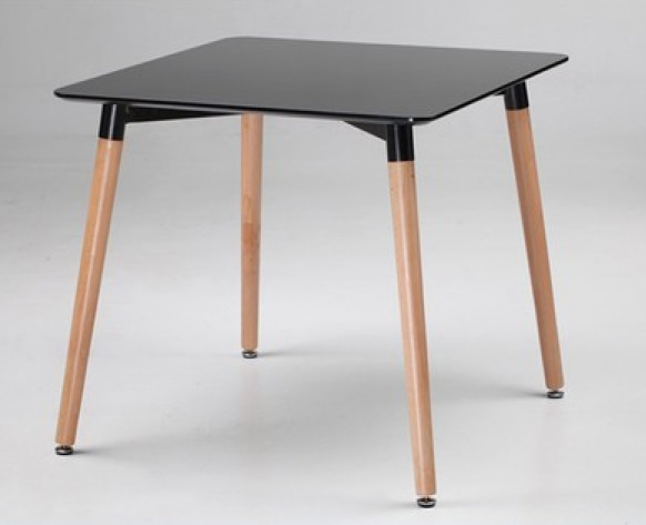 EAMES TABLE - SQUARE 80x80 800 x 800 x 750 mm MDF painted surface, wood legs. Price: 1.850.000 VND
