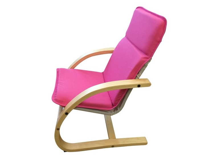 SPIZY Armchair 436 x 480 x 620 mm A padded fabric covered seat with a steel frame and bent wood legs. Color: Pink, Beige Price: 1.040.000 VND/pc